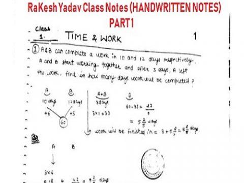 Rakesh yadav hand written notes