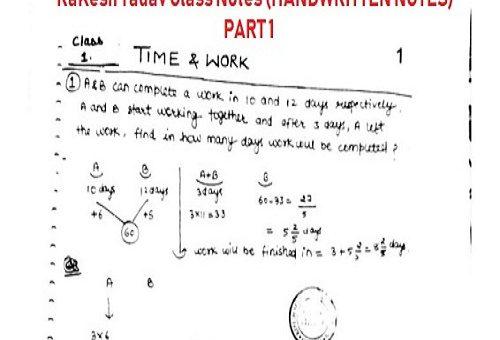 RaKesh Yadav sir Class Handwritten Notes PART 1 - Examtrix com