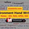 Environment Hand written Notes