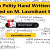 Indian Polity Notes Based on M Laxmikant