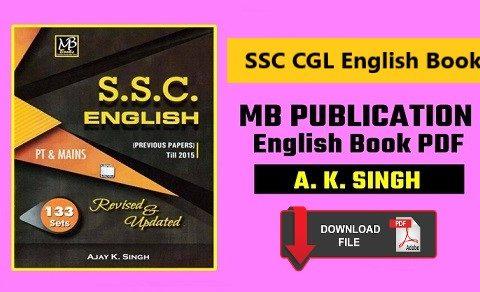 SSC MB publication english book pdf