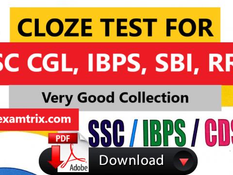 Cloze test SSC Bank PO