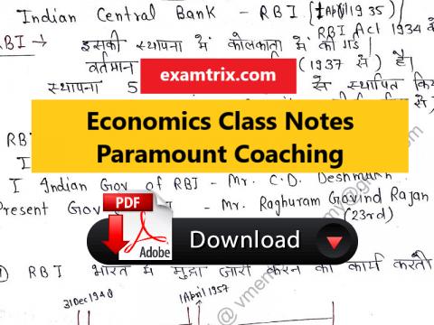 Economics Class Notes