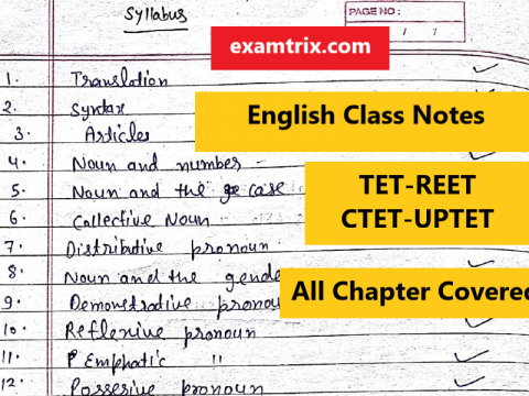 English Grammar Handwritten Class Notes in Hindi : Free Download PDF