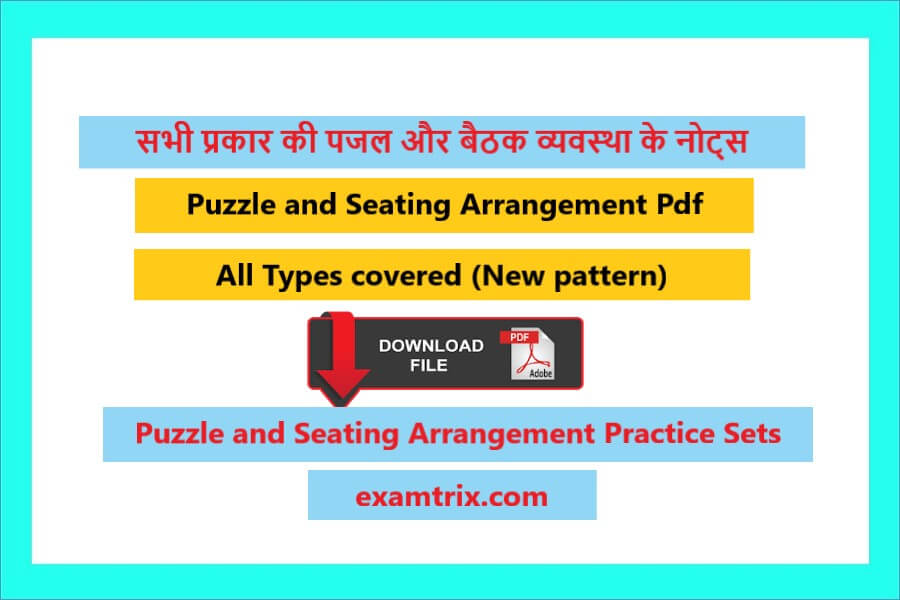 Puzzle and Seating Arrangement Questions pdf