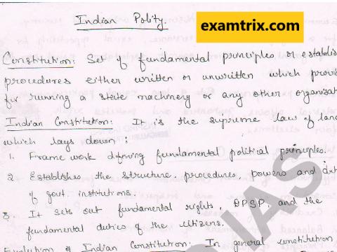 Indian Polity IAS RAS English Medium Class Notes