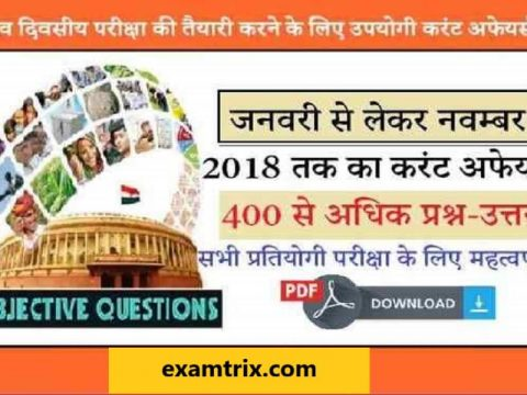 Read Important 400 Current Affairs Questions