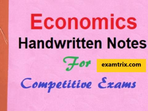 Indian Economy - Economics Handwritten class notes