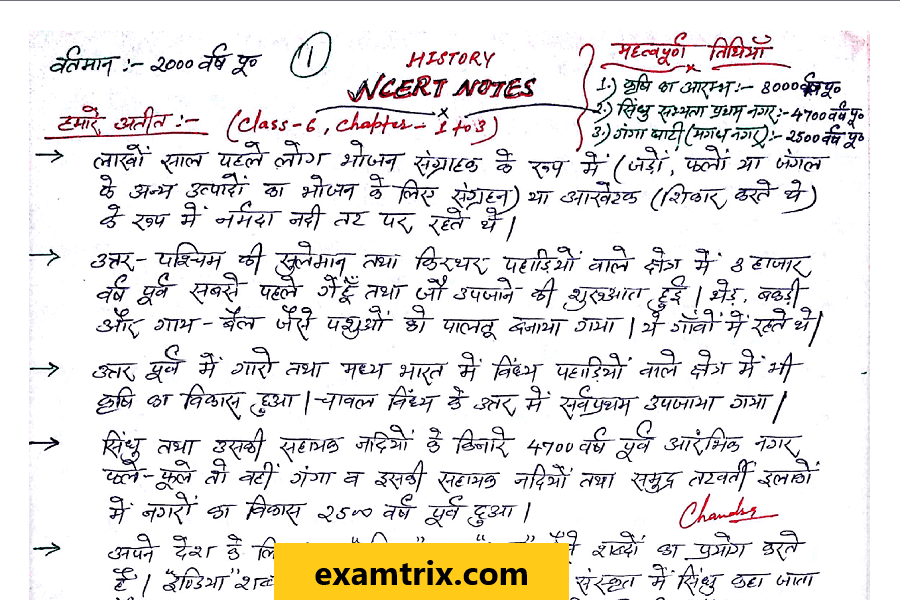 Complete Indian History Handwritten Notes in Hindi || Indian