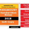 Paramount Coaching Notes in Hindi Paramount Class Notes examtrix