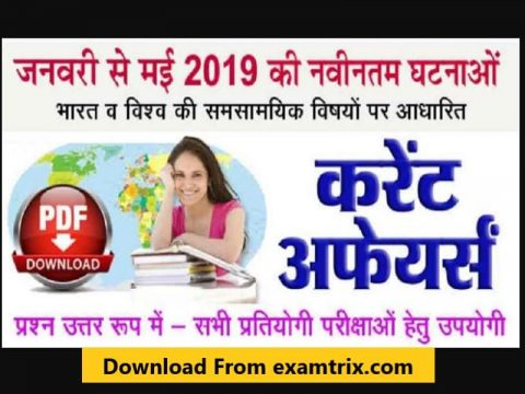 GK Current Affairs Questions in Hindi PDF