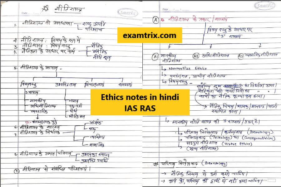 Ethics notes in hindi IAS RAS