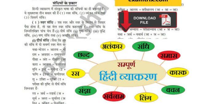Hindi grammar Hindi Vyakaran PDF Book