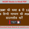 NCERT Books in Hindi PDF
