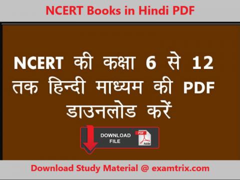 NCERT Books in Hindi PDF