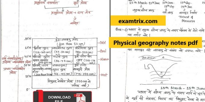 Physical geography notes pdf