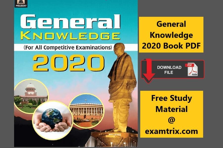 General Knowledge Quiz 2020 PDF - Examtrix.com