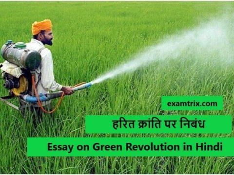 हरित क्रांति पर निबंध - Essay on Green Revolution in Hindi