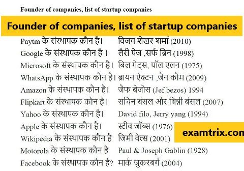 Founder of companies, list of startup companies