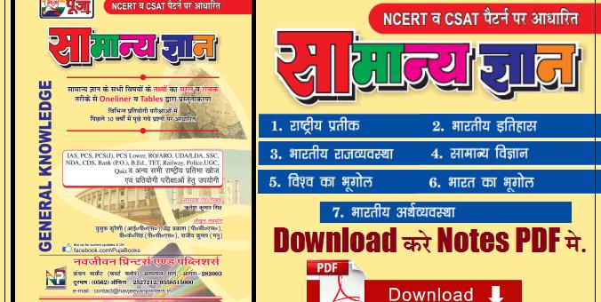 General Knowledge (GK) Book, General Awareness Pdf Download in Hindi