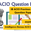 IB ACIO previous year question paper in Hindi and English Pdf download