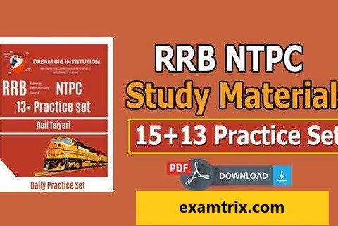RRB NTPC Book PDF With 30 Practice Set