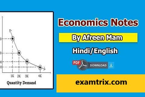 Indian Economics Notes in Hindi & English PDF Free Download