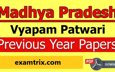 MP Vyapam Patwari Previous Year Papers Pdf Download Now