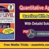 Quantitative Aptitude Questions With Answers PDF Download in English