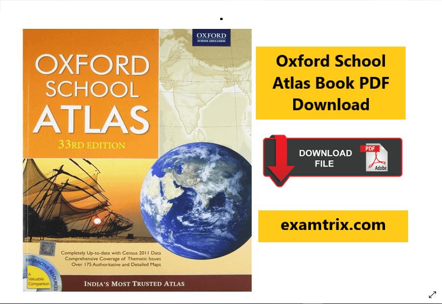 Oxford School Atlas Book PDF Download- Oxford atlas of the world