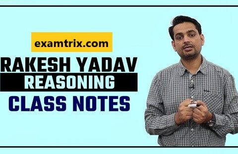 Rakesh Yadav Reasoning Class Notes PDF in Hindi and English