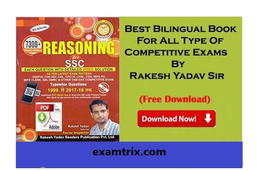 Rakesh yadav reasoning book in Hindi PDF Download