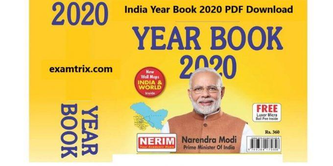 India Year Book 2020 PDF Download