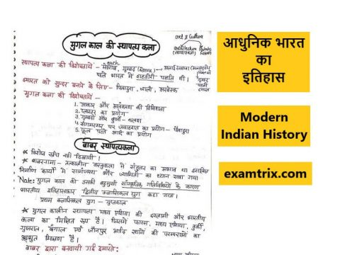 Indian History (आधुनिक भारत का इतिहास) Adhunik Bharat ka itihas PDF Download