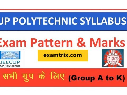 JEECUP UP Polytechnic Syllabus 2020 - Download Syllabus PDF Of UP Polytechnic