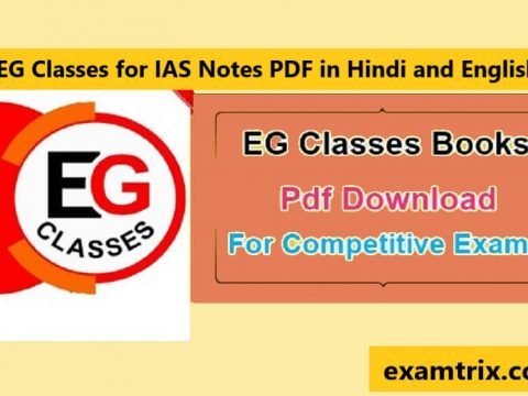 EG Classes for IAS Notes Books PDF in Hindi and English