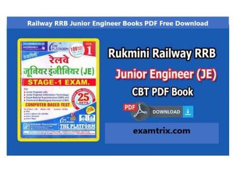(RRB JE Books) Railway RRB Junior Engineer Books PDF Free Download By Rukmini Prakashan
