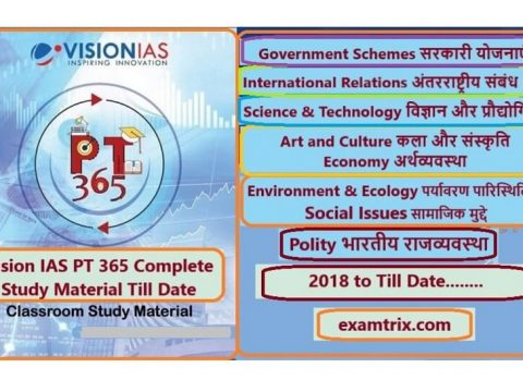Vision IAS PT 365 For 2019-2020-2021 in Hindi and English PDF Download