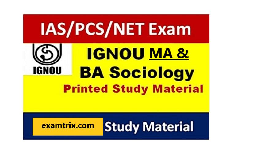 IGNOU Sociology BA MA Optional Books PDF Download