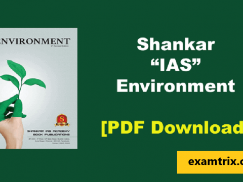 Shankar IAS Environment PDF Book For UPSC, IAS 6th edition Download