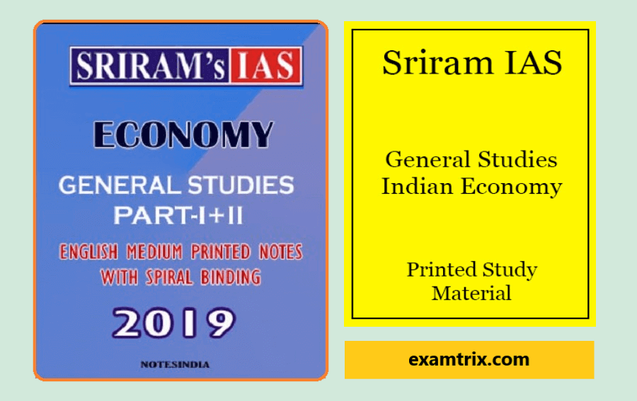 Sriram IAS Economy Notes PDF 2020 For UPSC IAS Free Download