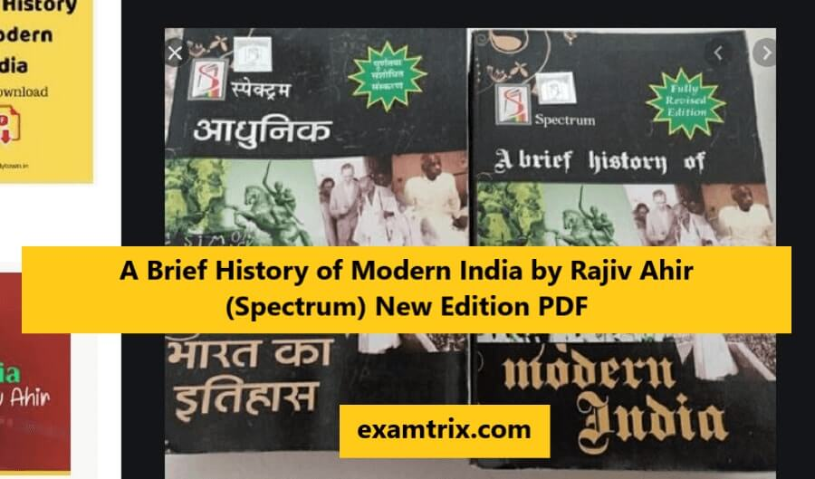 A Brief History of Modern India by Rajiv Ahir (Spectrum) New Edition PDF