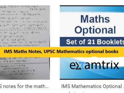 IMS Maths Notes UPSC Mathematics optional books PDF Free Download