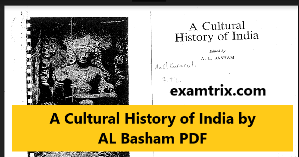 A Cultural History of India by AL Basham PDF