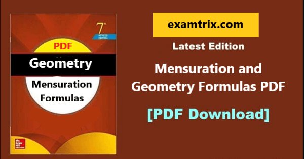 Mensuration and Geometry Formulas PDF Book Free Download