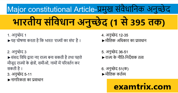 All Article 1 to 395 in Hindi PDF download bhartiya samvidhan anuched