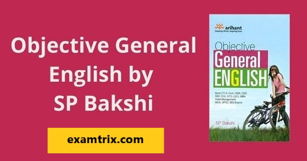 Objective General English by sp bakshi pdf book by arihant publication download
