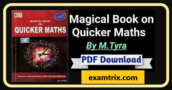 Quicker maths by m tyra pdf magical book