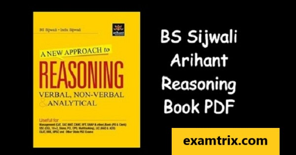 a new approach to reasoning verbal & non-verbal pdf by bs sijwali arihant publication