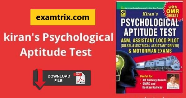 Kiran's psychological aptitude test book pdf free download
